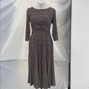 Coldwater Creek gathered maxi dress size 8